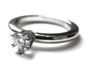 Diamond ring in white gold 18k, with 0,25ct TW VS.